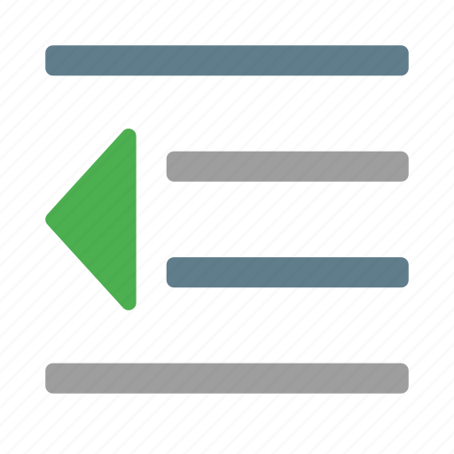 content, decrease, editor, indent, paragraph, style, text icon