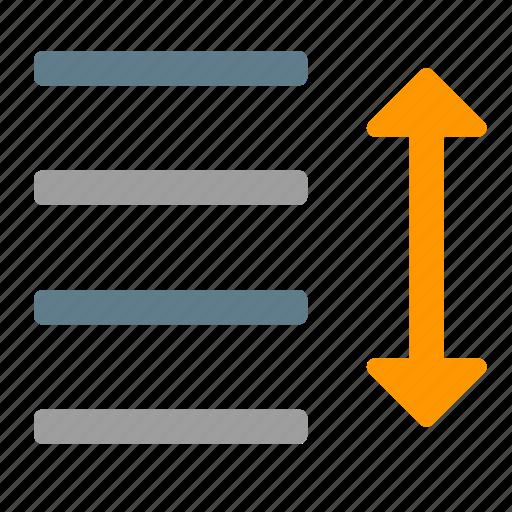 content, editor, increase, line, paragraph, spacing, text icon