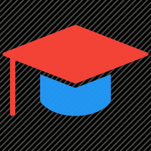 education, graduate, hat, learn, school, study icon