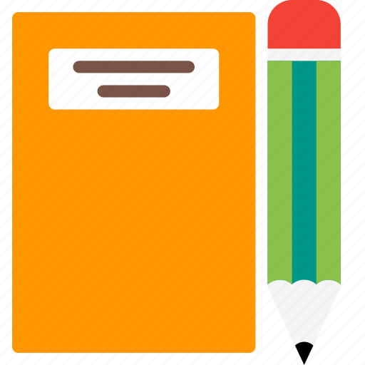 book, education, learn, notebook, pen, pencil, study icon