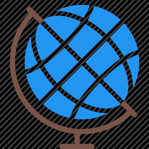 education, geographic, globe, school, study, subject icon
