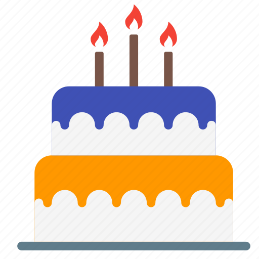 birthday, cake, candle, dessert, food, sweet icon