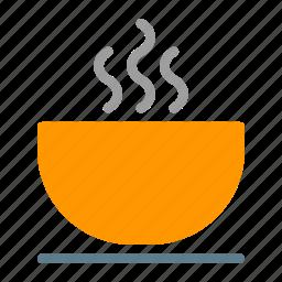 bowl, eat, food, hot, noodle, soup icon