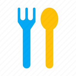eat, folk, food, outing, restaurant, spoon icon