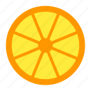 citrus, food, lemon, lime, orange, slice icon