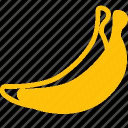 bananas, food, fruit, plant, tree icon