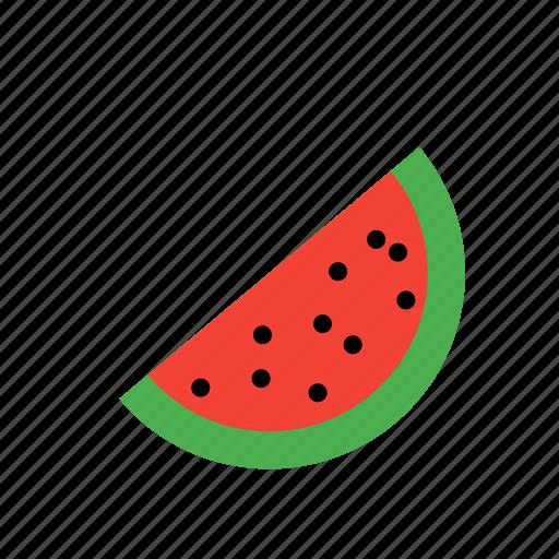 food, fruit, slice, tree, watermelon icon