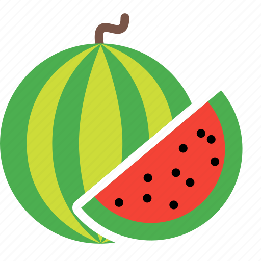 food, fruit, plant, slice, tree, watermelon icon