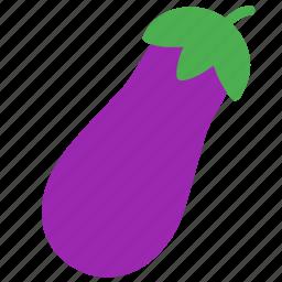 eggplant, food, fruit, ingredient, tree icon