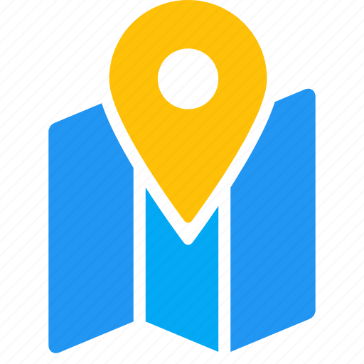 location, map, marker, paper, pin icon