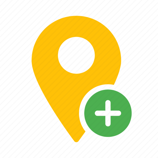 add, location, map, marker, new, pin icon