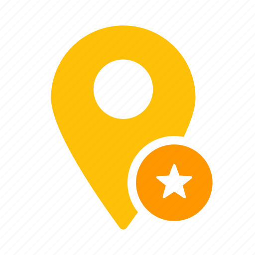 favorite, location, map, marker, pin, star icon