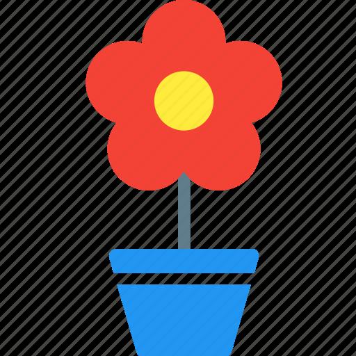 flower, flowerpot, garden, nature, plant, pot, tree icon