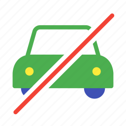 cab, car, no, taxi, traffic, transport, vehicle icon