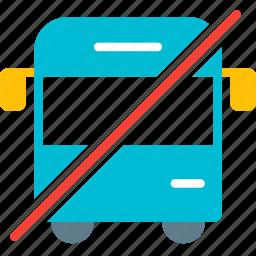 bus, no, public, traffic, transport, vehicle, wagon icon