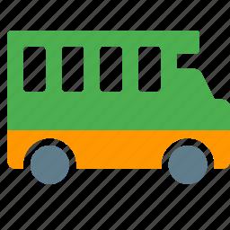bus, conveyance, passenger, transport, vehicle, wagon icon