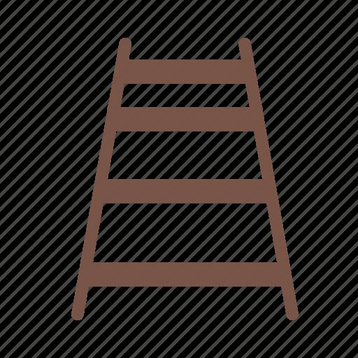 ladder, railroad, railway, station, traffic, train, transport icon