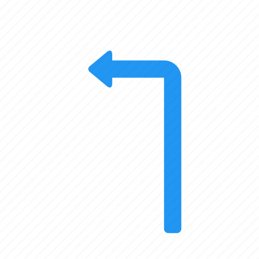 arrow, direction, left, sign, traffic, transport, turn icon