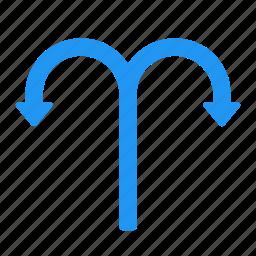 arrow, direction, left, right, traffic, transport, turn icon