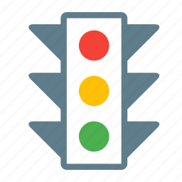 crosswalk, light, road, street, traffic, transport icon