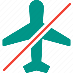 aircraft, airplane, flight, mode, off, transport, travel icon