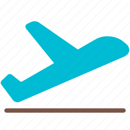 aircraft, airplane, departure, flight, off, take, transport icon