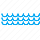 orcean, river, sea, transport, water, wave icon