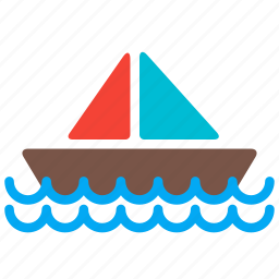 boat, sail, sea, ship, transport icon