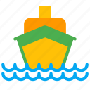 boat, cruise, luxury, sea, ship, transport icon