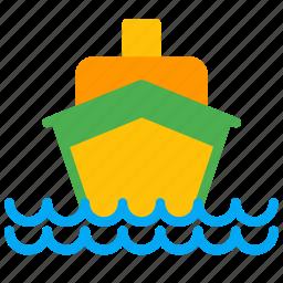 boat, cruise, luxury, sea, ship, transport icon