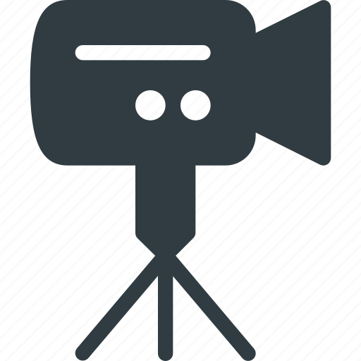 camera, hold, movie, record, stand, video icon