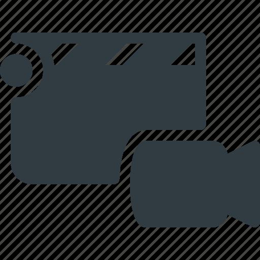 camera, clapper, clip, cut, movie, video icon