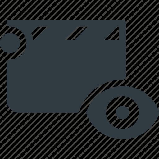 clapper, clip, cut, movie, view icon
