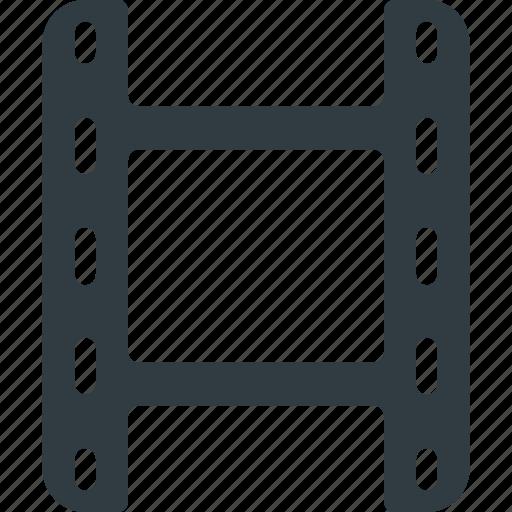 clip, film, media, movie, strip, vertical icon