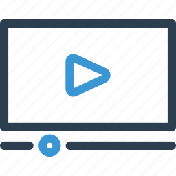 display, film, movie, play, video, view, watch icon