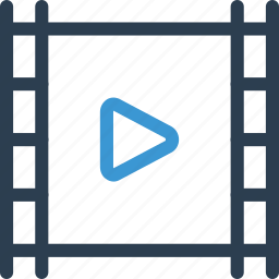 film, frame, movie, play, video, view, watch icon