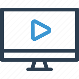 film, monitor, movie, play, tv, video, web icon