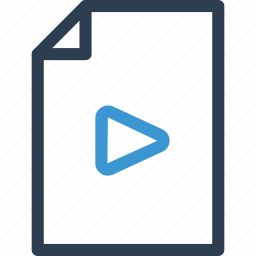 file, movie, play, player, type, video, view icon