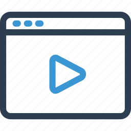 film, movie, online, play, player, video, web icon