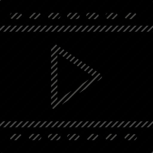 arrow, audio, camera, cinema, control, creative, dotted-, film, grid, media, movie, multimedia, music, player, shape, sign, video icon