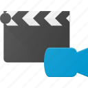 camera, clapper, clip, cut, movie, video icon
