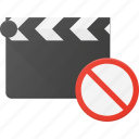 clapper, clip, cut, disable, movie