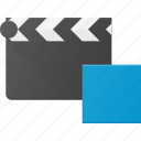 clapper, clip, cut, movie, stop icon