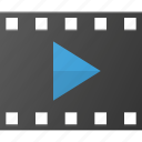 clip, film, movie, play, player, strip icon