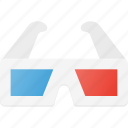 cinema, film, glasses, movie, treedimension icon