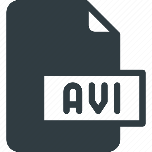 avi, document, file, film, video icon