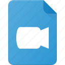 camera, document, file, film, video icon