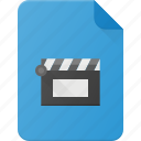 clip, document, file, film, video icon