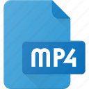 document, file, film, mp4, video icon