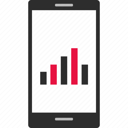 android, bars, cell, data, iphone, mobile icon